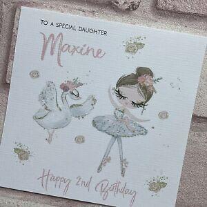 PERSONALISED Handmade BIRTHDAY CARD  Sister Granddaughter Daughter BALLET DANCE