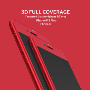 RED 3D Curved Tempered Glass Screen Protector for Apple iPhone 8 Plus