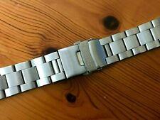 22mm Seiko jubilee flat straight lugs stainless steel gents watch bracelet strap