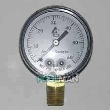 """Side Mount 60LB Filter Pressure Gauge with 1/4"""" Pipe Threads for Pool or Spa"""