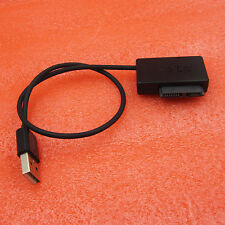 SATA Slimline to USB 2.0 Adapter Cable Laptop CD DVD Rom Drive 7+6 13Pin Black