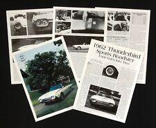 1962 Ford Thunderbird Sport Roaster Article History Specifications 1997 Publicat