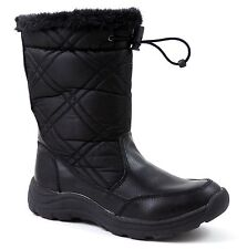 Easy Spirit Women's Cleary02 Snow, Winter Boots Quilted Black Size 5 M