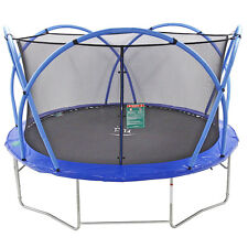 Outdoor/Garten Trampolin - 427cm - mit leicht klappbaren Bögen und Wetterschutz!