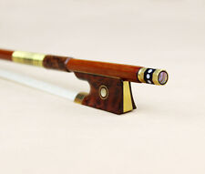 Snakewood Frog Violin Bow pernambuco gold mounted great quality strong bow 4/4