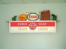 LOTUS Gold Leaf Bannner F1 team retro workshop garage car