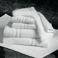 12 WHITE 100% COTTON NEW HOTEL BATH TOWELS 20X40 DOUBLE CAM ROYAL REGAL BRAND
