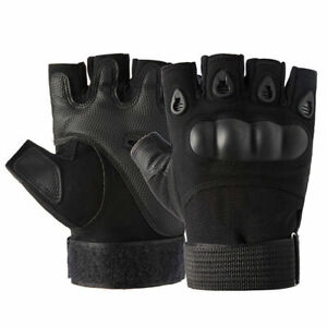New Half Finger Tactical Gloves Protective Hard Knuckle Work Military Hunting