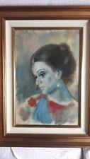 Ritratto femminile del pittore Proferio Grossi (Parma 1923 - 2000)