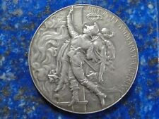 Médaille Argent Sauvetage Pompier Chalonnes sur Loire Chaplain & Dubois - 1923