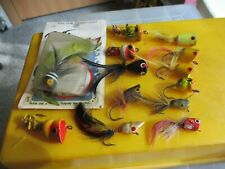 lot of flyrod popper fishing lures