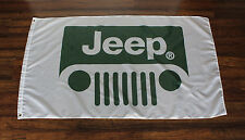 Jeep Flag Banner Green Grill AMC Dodge Cherokee Renegade Wagoneer Advertising