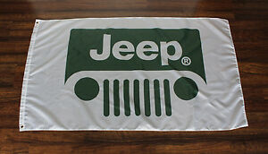 Jeep Banner Flag Green Grill AMC Dodge Cherokee Renegade Wagoneer Advertising