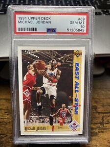 1991 Upper Deck UD Basketball #69 Michael Jordan Bulls HOF PSA 10 GEM LOW POP