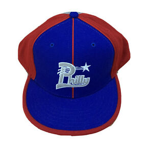Philly Negro League Museum Fitted Baseball Hat Cap 7 3/4 Red Blue Gray New NWT