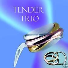 NEW TENDER TRIO TRINITY RINGS - PAST, PRESENT, & FUTURE
