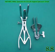 Collin Vaginal Speculum  Small & 3 Prong Mathieu Anal Speculum
