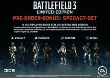 Battlefield 3 DLC Specact-Set & Dog Tag Pack (Dogtag) PS3 ✰NEU✰