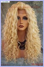 LACE FRONT LONG CURLY BLOND STYLE WIG CLR 613 GORGEOUS SEXY STYLE US SELL 1088