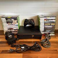 Microsoft Xbox 360 S Slim 320GB Console Bundle 35 Quality Games Controller Huge