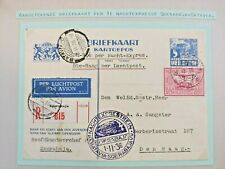 1936 REGISTERED NIGHT TRAIN AIRMAIL COVER NEDERLAND TO DUTCH INDIES B45.2 $0.99