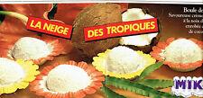 Publicité advertising 108  1982   Miko glaces boule de neige coco (2pages)