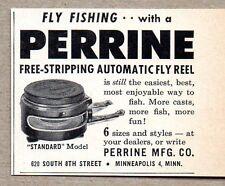 1959 Print Ad Perrine Automatic Fly Fishing Reels Minneapolis,MN