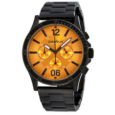 Caravelle by Bulova Orange Dial Mens Chronograph Watch 45A108