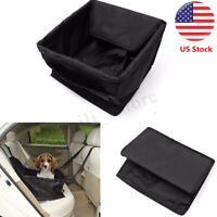 Pet Dog Cat Booster Car Seat Cover Auto Carrier Puppy Safety Travel Basket Black
