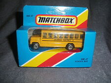 272B Vintage Matchbox 1981 MB 47 Bus School Bus School District 2 US 1:76