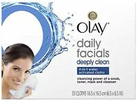 Olay Daily Deeply Clean 4-in-1 Water Activated Cleansing Face Cloths 33ct (3pk)