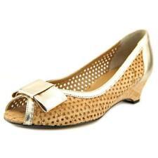 Zapatos de tacón de mujer plataformas de tacón medio (2,5-7,5 cm) de color principal beige