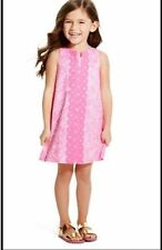 NWT NEW Lilly Pulitzer for Target See Ya Later Neon Pink Shift Dress 4 4T