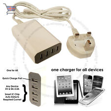 8A Max 4 puertos USB Cargador Adaptador inteligente chip ic para todos los teléfonos Samsung UKES