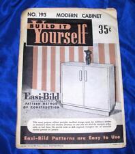 UNUSED VTG  1951 EASI BILD DIY WOODWORKING CRAFT PATTERN 193  Modern Cabinet