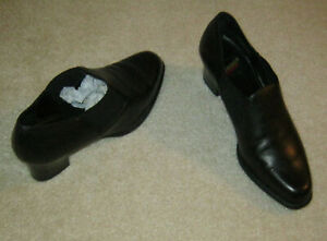 Aerosoles Heel A Copter Black Leather - Size 8 B - Excellent/Unworn