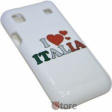 Cover for SAMSUNG Galaxy s I9000 I9001 I LOVE ITALY Rigid White