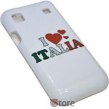Cover Custodia Per SAMSUNG Galaxy s I9000 I9001 I LOVE ITALIA Rigida Bianca