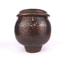 Studio Keramik Künstler Objekt Dose Gefäß German Art Pottery Vessel Jar signed