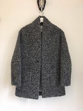 Aritzia Wilfred Free Neelam Boucle Black Grey Mix Cocoon Coat XS 298$