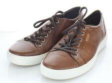 23-30 NEW $160 Men's Size 45 EU ECCO Soft 7 Leather Sneaker In Brown