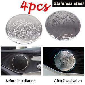 4*Steel Audio Speaker Cover Trim For Mercedes Benz E Class W213/C W205/GLC Class