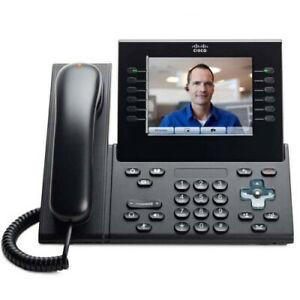 Cisco CP-9971-C-K9 Unified VoIP 9971 Phone Charcoal NO Power Adapter