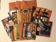 Lot of 20 Hallmark Halloween Cards Full Size With Envelopes New!