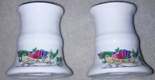 Pair of Porcelain Candle Holders Christmas  Vintage Holiday decoration ornaments