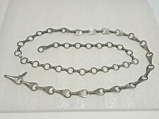 "SoHo Design Made in Italy. 42"" heavy silver tone chain hook belt"