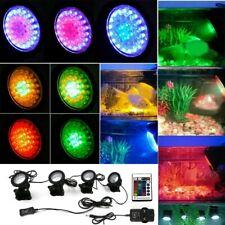 1 Set 4 Lights 36 LED Spot Light Garden Aquarium Fish Tank Pool Pond Underwater