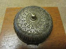 Vintage Ornate Brass Bell > Antique Old Iron Box Door Boxing Fire Bells 9844