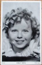 Shirley Temple 1930s Fox Film Movie Star Postcard: Close-Up of Face