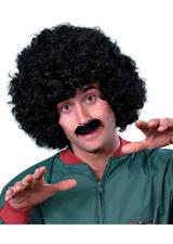 Mens Black Curly Scouse Wig Set